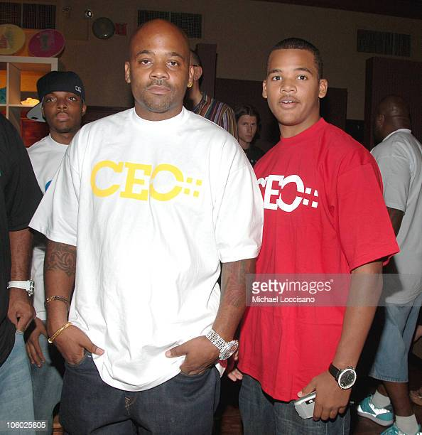 Damon Dash and Son Boogie Dash during The Sunsilk Hairapy 'Coming Out' Launch Party at The Plumm in New York City New York United States