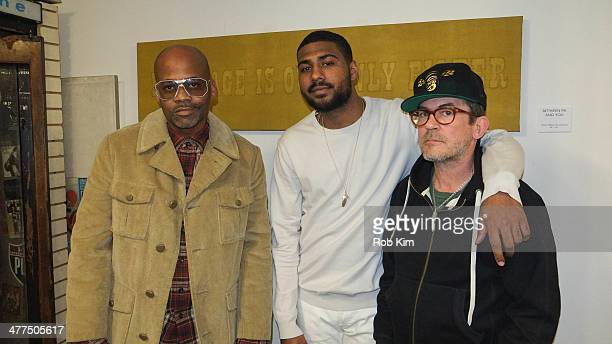 Damon Dash Mark Anthony Green and Mark McNairy attend 'Vibes Are The Only Currency' Art Exhibition Opening on March 9 2014 in New York City