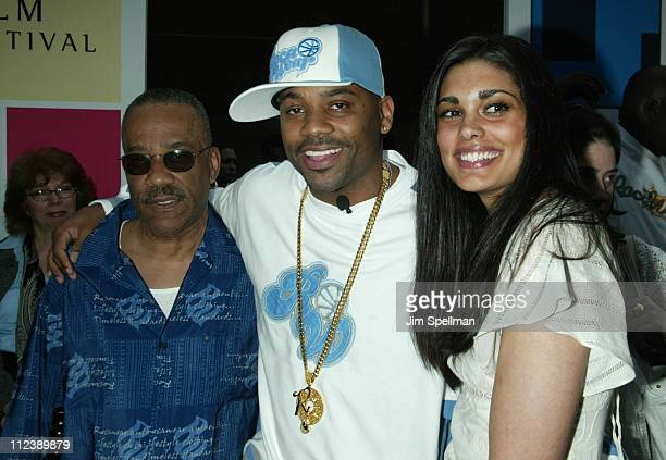 Damon Dash with his father Robert and Rachel Roy