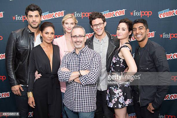 Damon Dayoub Salli RichardsonWhitfield Emma Ishta Jeffrey Alan Schechter Kyle Harris Allison Scagliotti and Ritesh Rajan pose in the press room for...