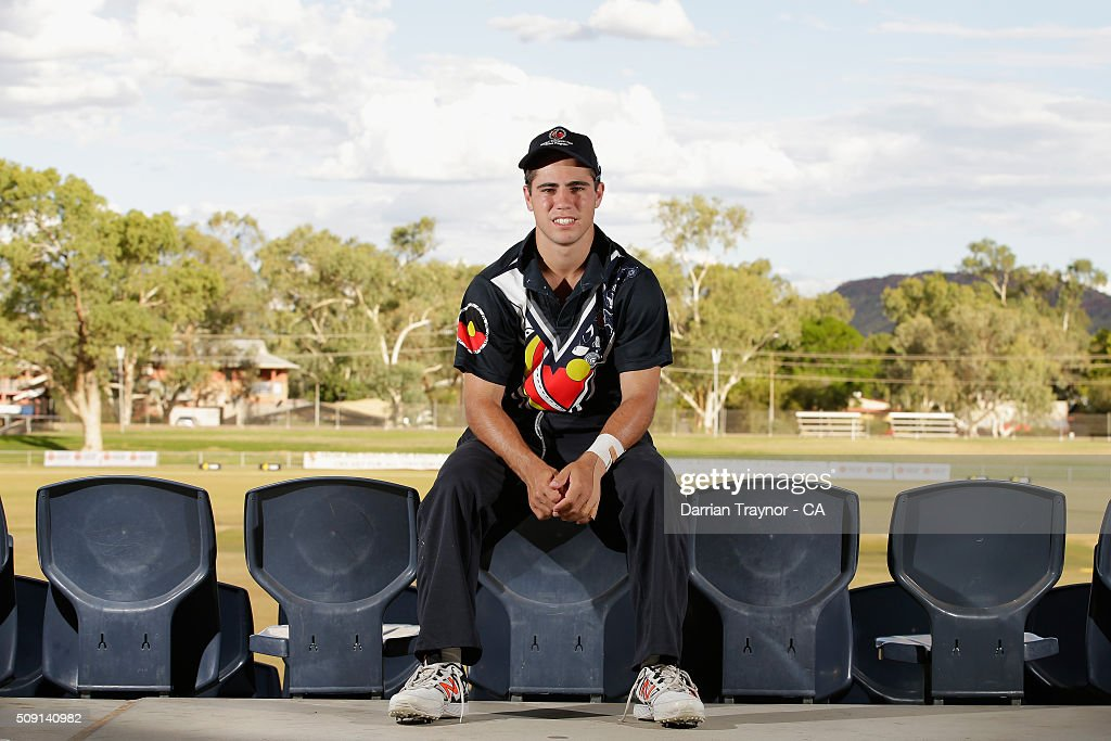 Damon Egan of Victoria poses for a photo during day 2 of the National Indigenous Cricket Championships on February 9, 2016 in Alice Springs, Australia.