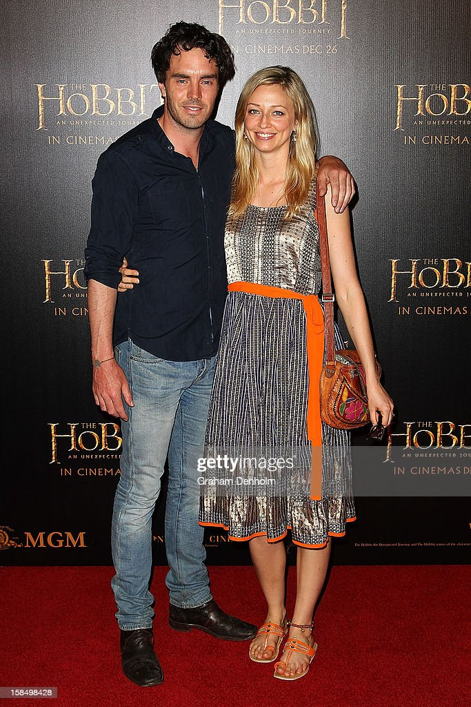 Damon Gameau (L) and Zoe Tuckwell-Smith attend the Melbourne premiere of 'The Hobbit: An Unexpected Journey' at Village Cinemas on December 18, 2012 in Melbourne, Australia.