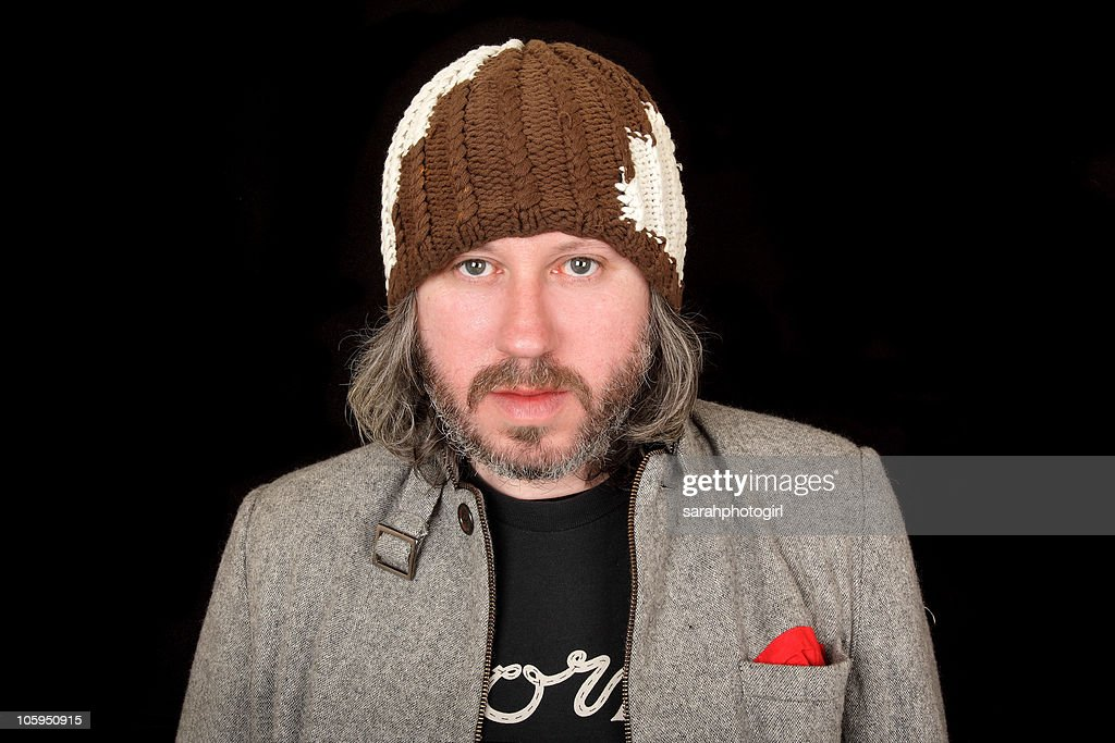 Damon Gough of <a gi-track='captionPersonalityLinkClicked' href=/galleries/search?phrase=Badly+Drawn+Boy&family=editorial&specificpeople=228764 ng-click='$event.stopPropagation()'>Badly Drawn Boy</a> poses for pictures at Spa Theatre on October 22, 2010 in Scarborough, England.