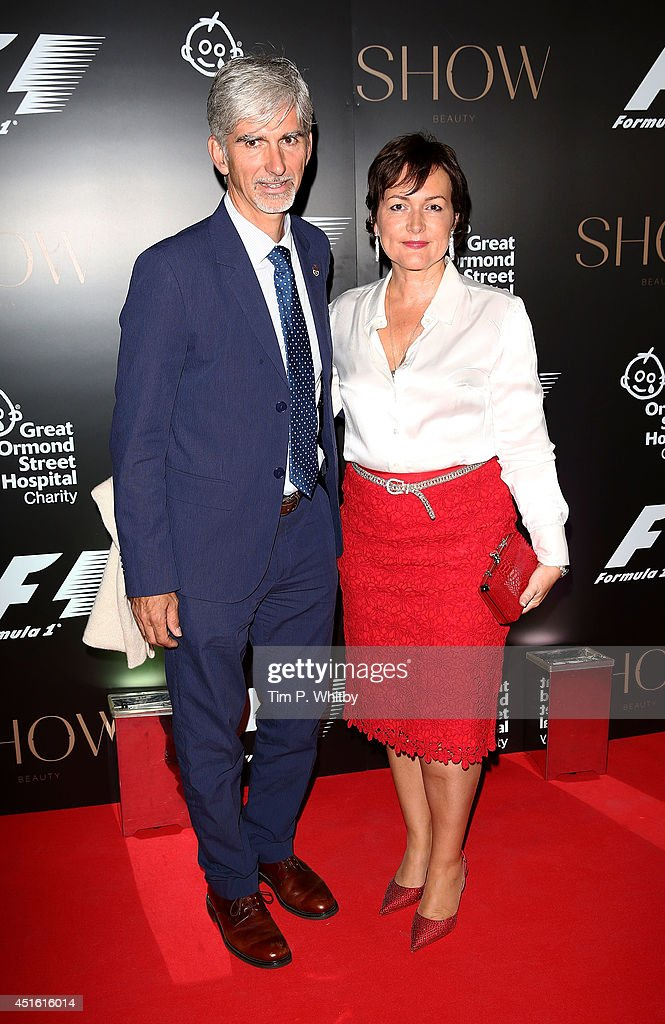 <a gi-track='captionPersonalityLinkClicked' href=/galleries/search?phrase=Damon+Hill&family=editorial&specificpeople=195346 ng-click='$event.stopPropagation()'>Damon Hill</a> and Georgie Hill attend The F1 Party in aid of the Great Ormond Street Children's Hospital at Victoria and Albert Museum on July 2, 2014 in London, England.