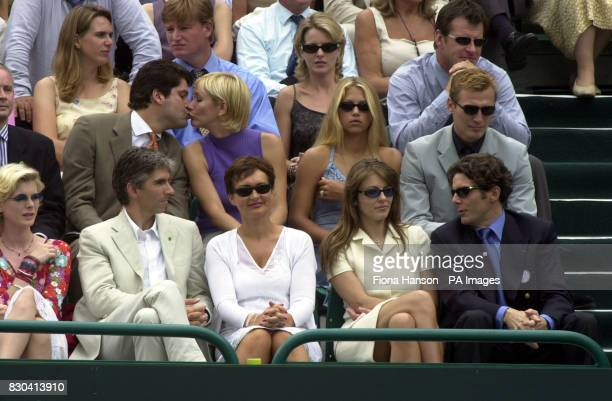 Damon Hill and wife Georgie Liz Hurley and Guy Louthmen Tania Bryer Anna Kournikova and Sergei Federov Ernie Els and Nick Faldo with Valerie Bercher...