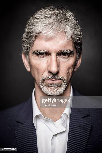 Damon Hill ex Formula One world champion now Sky Sports pundit poses for a portrait at the Sky Studios on March 6th 2014 in Isleworth