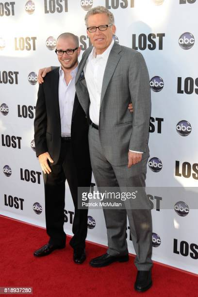 Damon Lindelof and Carlton Cuse attend Lost Finale at Royce Hall UCLA on May 13 2010 in Los Angeles CA