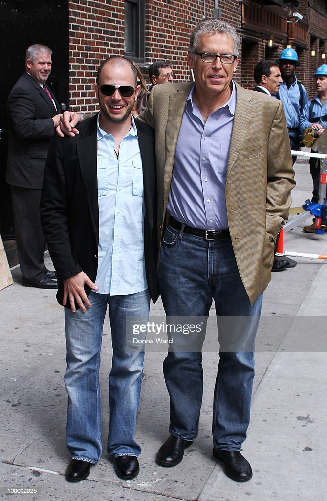 Damon Lindelof and Carlton Cuse visit the ''Late Show With David Letterman'' at the Ed Sullivan Theater on May 19, 2010 in New York City.