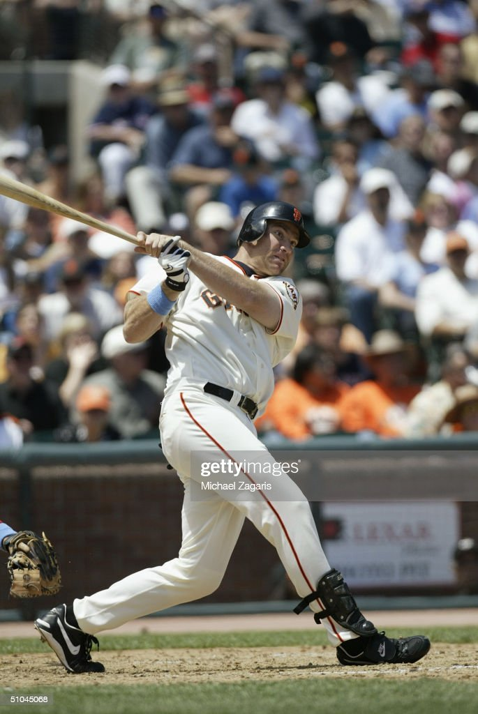Damon Minor of the San Francisco Giants swings at the pitch during the MLB game against the Boston Red Sox at SBC Park on June 20, 2004 in San Francisco, California. The Giants defeated the Red Sox 4-0.