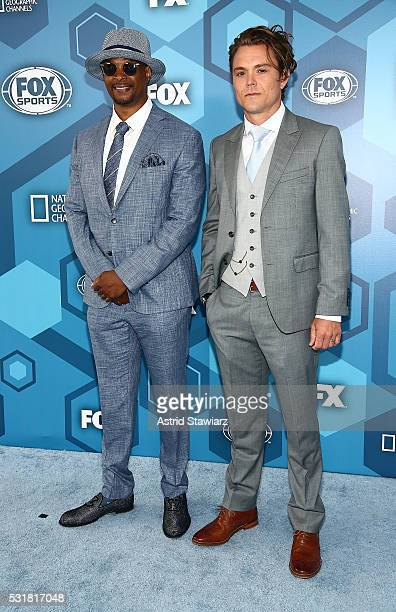 Damon Wayans and Clayne Crawford attend FOX 2016 Upfront Arrivals at Wollman Rink Central Park on May 16 2016 in New York City