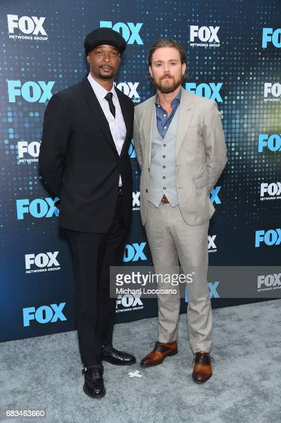 Damon Wayans and Clayne Crawford attend the 2017 FOX Upfront at Wollman Rink Central Park on May 15 2017 in New York City