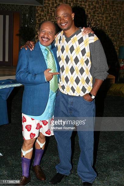 Damon Wayans from 'My Wife and Kids' and Sherman Hemsley from 'The Jeffersons' were on hand to participate in the taping of promos for the 2006 TV...