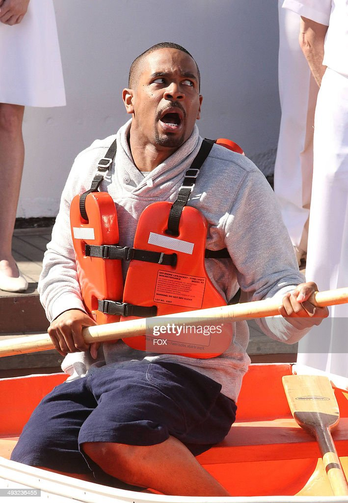 <a gi-track='captionPersonalityLinkClicked' href=/galleries/search?phrase=Damon+Wayans+Jr.&family=editorial&specificpeople=748156 ng-click='$event.stopPropagation()'>Damon Wayans Jr.</a> in the 'Cruise' Season Finale episode of NEW GIRL airing Tuesday, May 6, 2014 (9:00-9:30 PM ET/PT) on FOX.