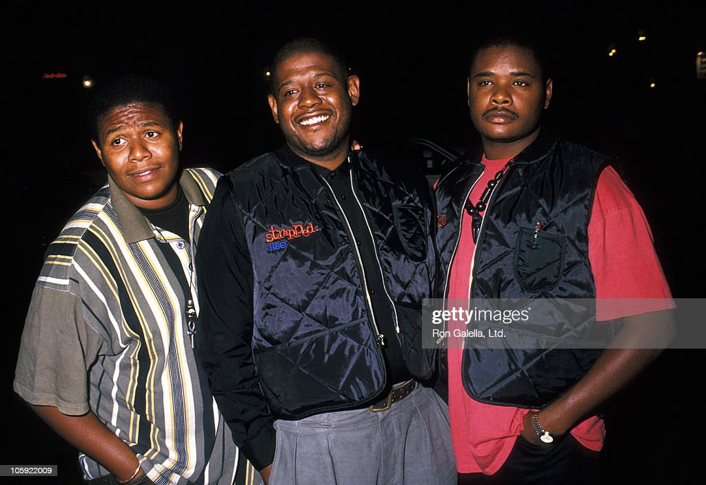 Damon Whitaker, Forest Whitaker and Ken Whitaker during Benefit Premiere of 'Strapped' at J. Papp Public Theater in New York City, New York, United States.