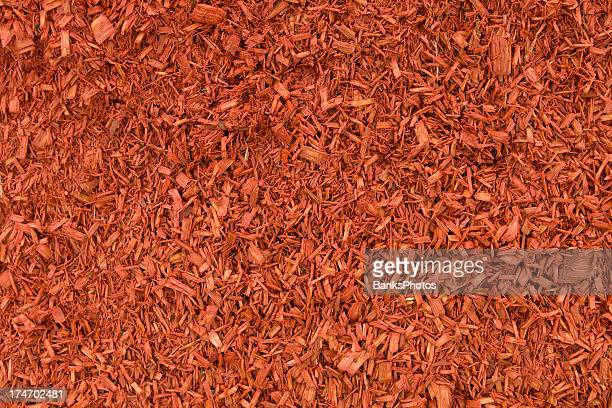 Damp Red Mulch Background