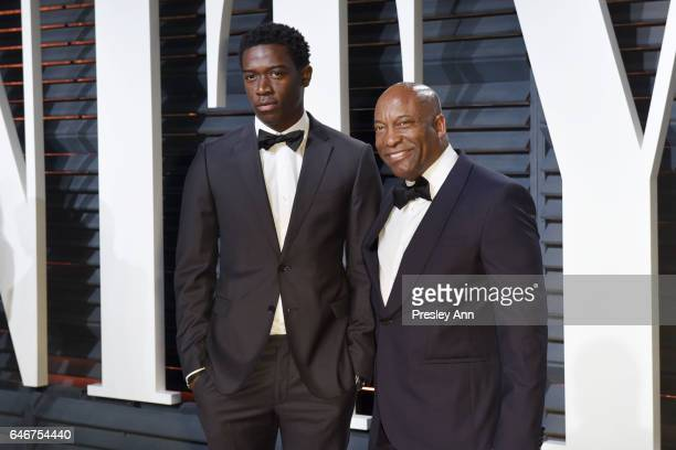 Damson Idris and John Singleton attend the 2017 Vanity Fair Oscar Party hosted by Graydon Carter at Wallis Annenberg Center for the Performing Arts...