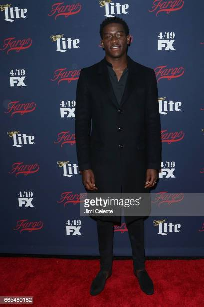 Damson Idris attends FX's 2017 Upfront at SVA Theater on April 6 2017 in New York City