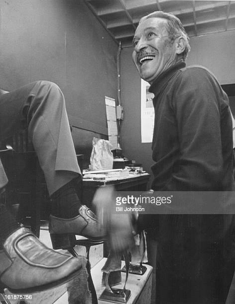 SEP 13 1976 SEP 17 1976 SEP 20 1976 Dan Abeyta Shows Action Involved in giving a shoe shine This was the last shine for Abeyta who closed his shop...
