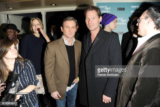 Dan Abrams and David Zinczenko attend HBO THE CINEMA SOCIETY host a screening of 'HOW TO MAKE IT IN AMERICA' at Landmark Sunshine Theater on February...