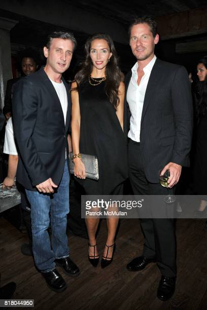 Dan Abrams Olivia Chantecaille Dave Zinczenko attend Calvin Klein Collection Women's Spring 2011 PostShow Dinner at The Lion on September 16 2010 in...