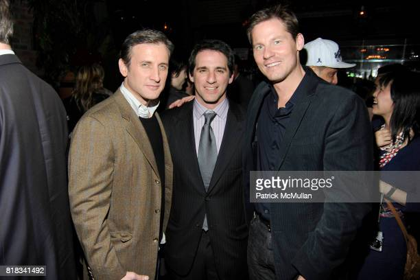 Dan Abrams Stephen Levinson and David Zinczenko attend HBO THE CINEMA SOCIETY host the after party for 'HOW TO MAKE IT IN AMERICA' at Bowery Hotel on...