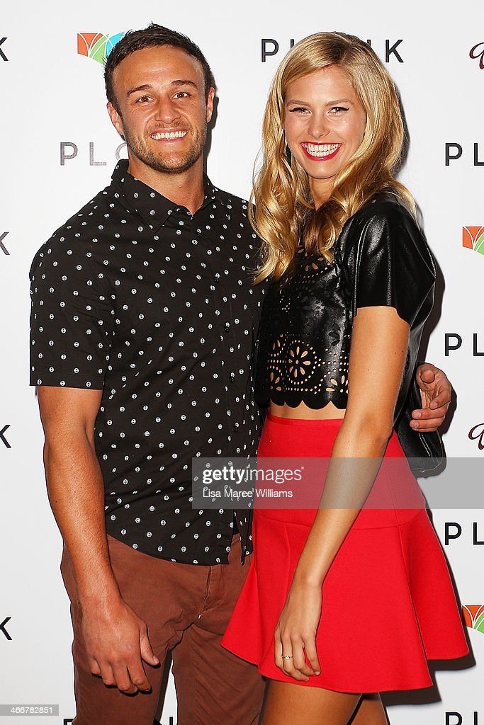 Dan Adair and Natalie Roser arrive at the PLONK media launch at Palace Verona on February 4, 2014 in Sydney, Australia.
