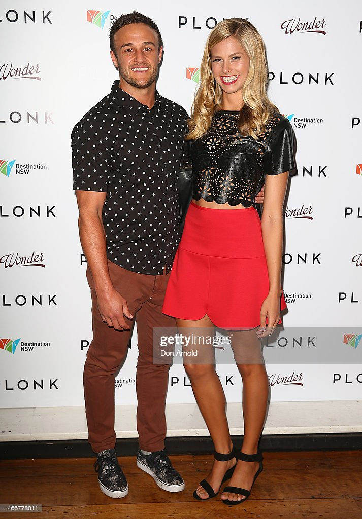 Dan Adair and Natalie Roser pose during the PLONK media launch at Palace Verona on February 4, 2014 in Sydney, Australia.