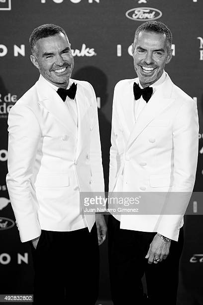 Dan and Dean Caten attend fashion 'ICON Awards Men of the Year' at Casa Velazquez on October 15 2015 in Madrid Spain