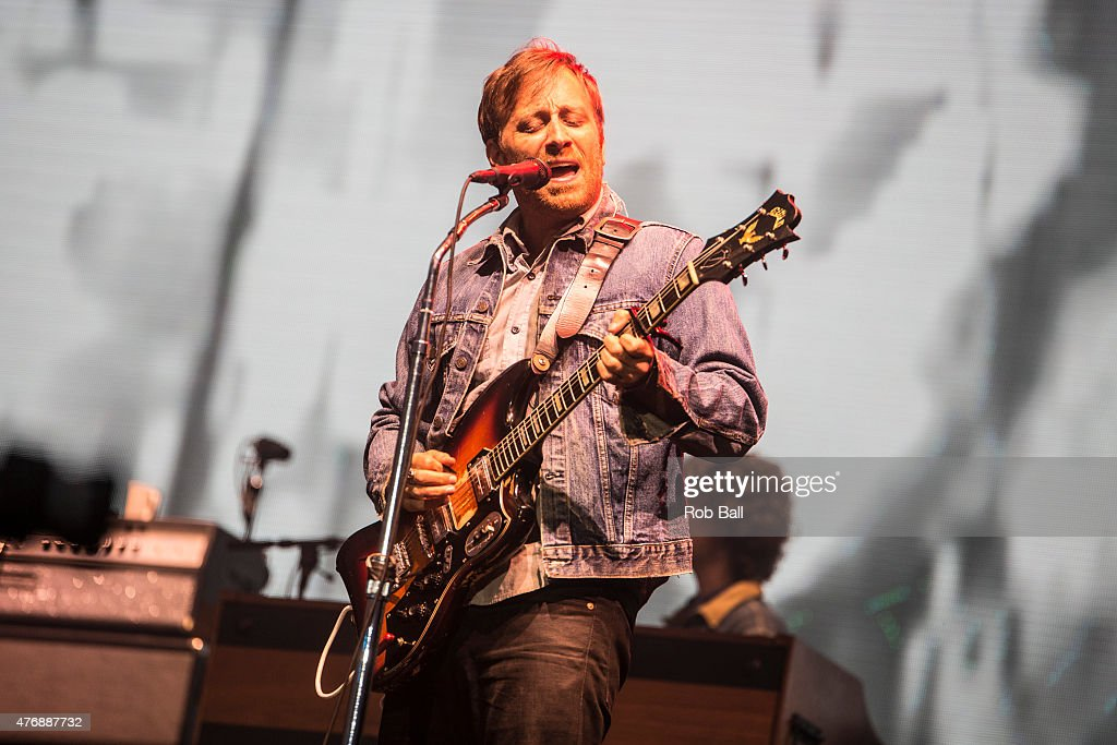 Dan Auerbach from the Black Keys performs on Day 2 of the Isle of Wight Festival at Seaclose Park on June 12 2015 in Newport Isle of Wight
