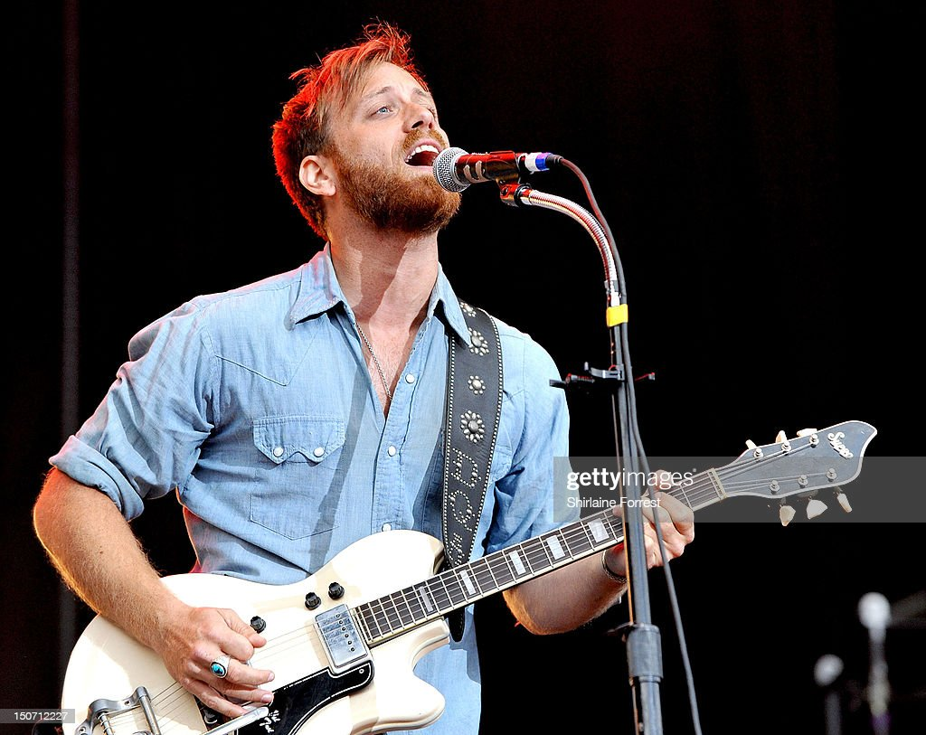 Dan Auerbach of The Black Keys performs at Bramham Park on August 24, 2012 in Leeds, England.