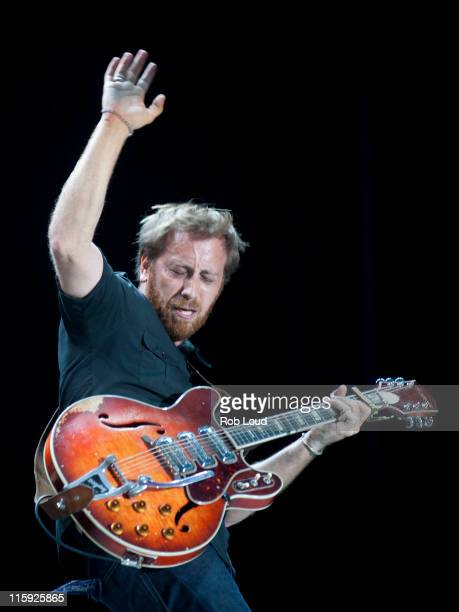Dan Auerbach of the Black Keys performs during the 2011 Bonnaroo Music And Arts Festival on June 11 2011 in Manchester Tennessee