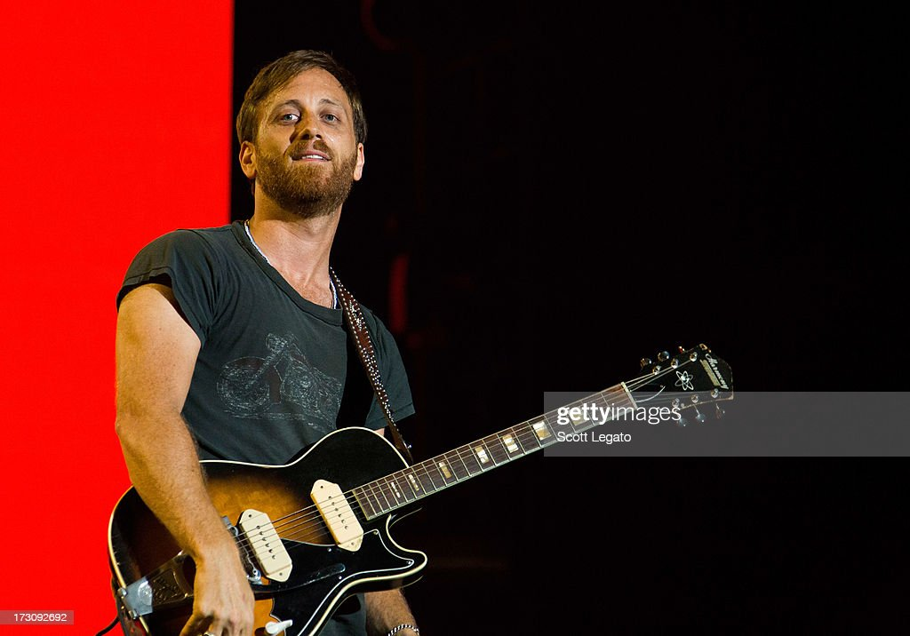 <a gi-track='captionPersonalityLinkClicked' href=/galleries/search?phrase=Dan+Auerbach&family=editorial&specificpeople=2233949 ng-click='$event.stopPropagation()'>Dan Auerbach</a> of The Black Keys performs during the Quebec Festival D'ete on July 6, 2013 in Quebec City, Canada.