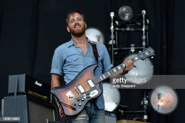 Dan Auerbach of The Black Keys performs on stage during Reading Festival 2012 at Richfield Avenue on August 26 2012 in Reading United Kingdom