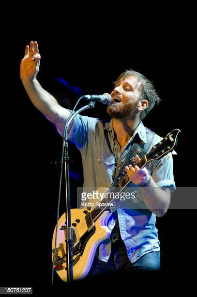 Dan Auerbach of The Black Keys performs onstage during the 10th annual Rock En Seine Festival at the Domaine National de SaintCloud park on August 25...