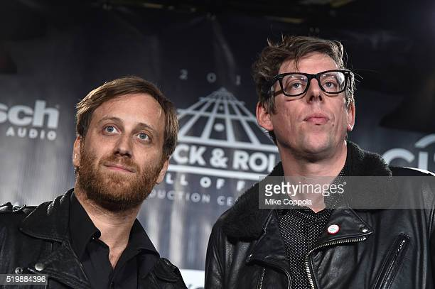 Dan Aurerbach and Patrick Carney of The Black Keys attend the 31st Annual Rock And Roll Hall Of Fame Induction Ceremony at Barclays Center on April 8...