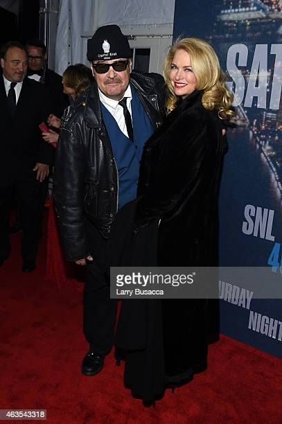 Dan Aykroyd and Donna Dixon attend SNL 40th Anniversary Celebration at Rockefeller Plaza on February 15 2015 in New York City