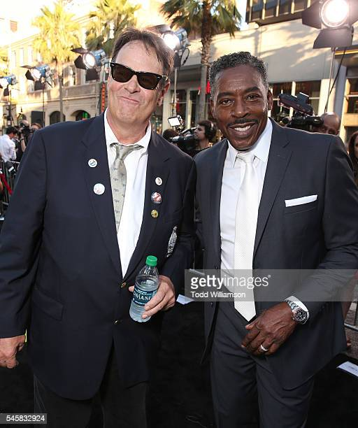 Dan Aykroyd and Ernie Hudson atttend the premiere of Sony Pictures' 'Ghostbusters' at TCL Chinese Theatre on July 9 2016 in Hollywood California