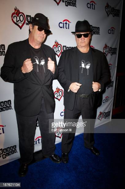 Dan Aykroyd and Jim Belushi attend the 20th Anniversary Celebraton Event at the House of Blues Sunset Strip on December 4 2012 in West Hollywood...