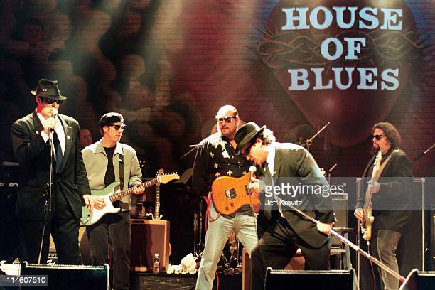 Dan Aykroyd and Jim Belushi during House of Blues Chicago Celebrates John Belushi's Birthday at House of Blues in Chicago Illinois United States