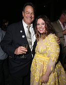 Dan Aykroyd and Melissa McCarthy attend the afterparty for the premiere of Sony Pictures' 'Ghostbusters' at the Roosevelt Hotel on July 9 2016 in...