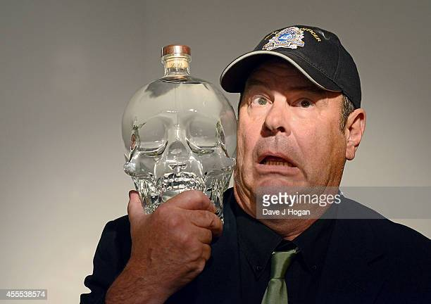 Dan Aykroyd attends a photocall to launch the 3L jeroboam of Crystal Head Vodka at Opera Gallery on September 16 2014 in London England