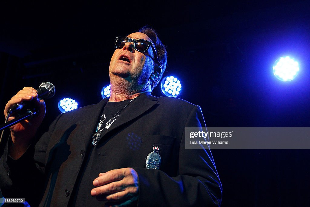 <a gi-track='captionPersonalityLinkClicked' href=/galleries/search?phrase=Dan+Aykroyd&family=editorial&specificpeople=206819 ng-click='$event.stopPropagation()'>Dan Aykroyd</a> performs on stage during a 'Crystal Head Vodka' party at Rock Lily, The Star on October 10, 2013 in Sydney, Australia.