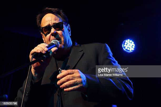 Dan Aykroyd performs on stage during a 'Crystal Head Vodka' party at Rock Lily The Star on October 10 2013 in Sydney Australia