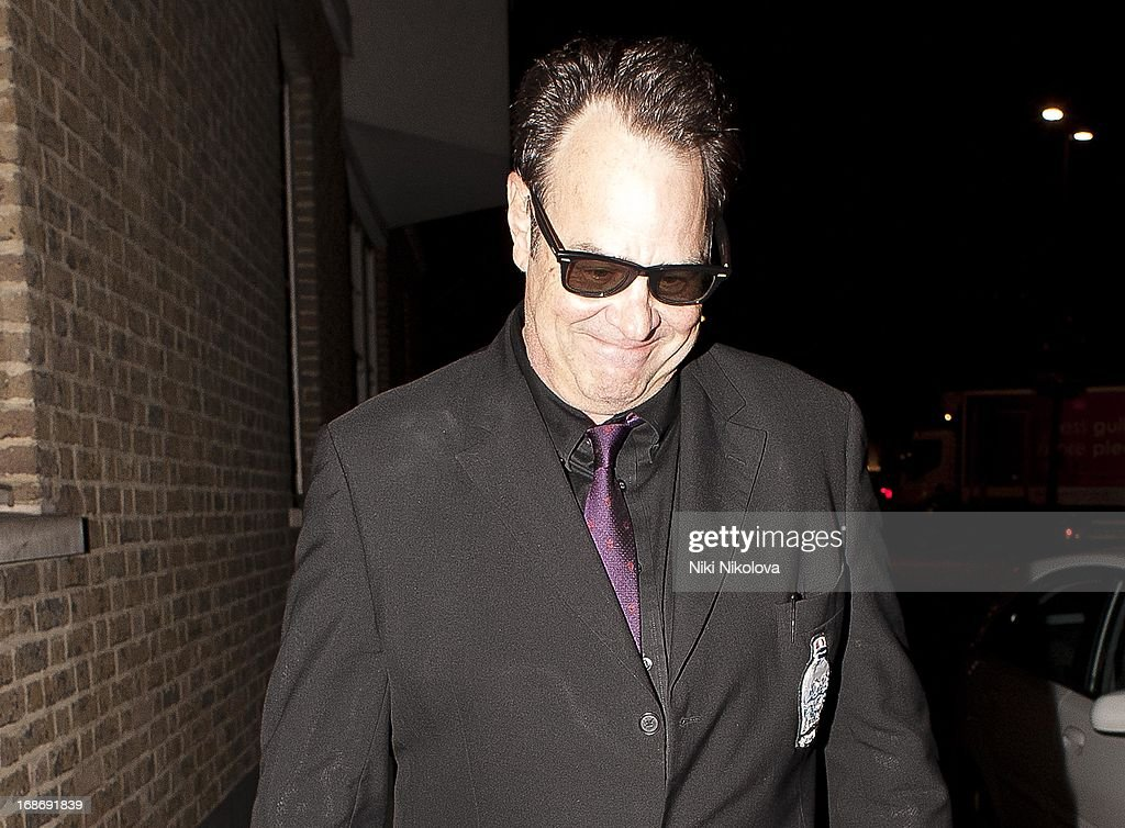 <a gi-track='captionPersonalityLinkClicked' href=/galleries/search?phrase=Dan+Aykroyd&family=editorial&specificpeople=206819 ng-click='$event.stopPropagation()'>Dan Aykroyd</a> sighting Leaving Annabells, Mayfair on May 13, 2013 in London, England.