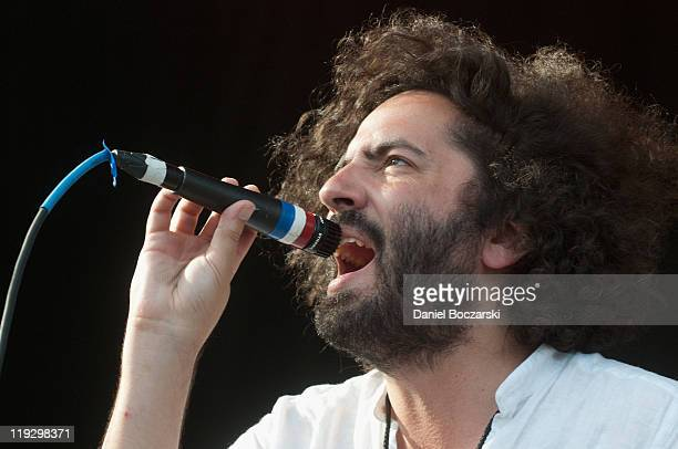 Dan Bejar of Destroyer performs during the 2011 Pitchfork Music Festival in Union Park on July 16 2011 in Chicago Illinois