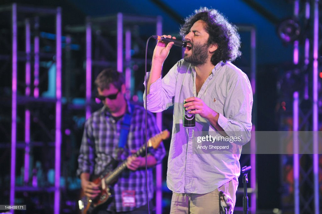 Dan Bejar of the band Destroyer performs on stage during Latitude Festival 2012 at Henham Park Estate on July 13 2012 in Southwold United Kingdom