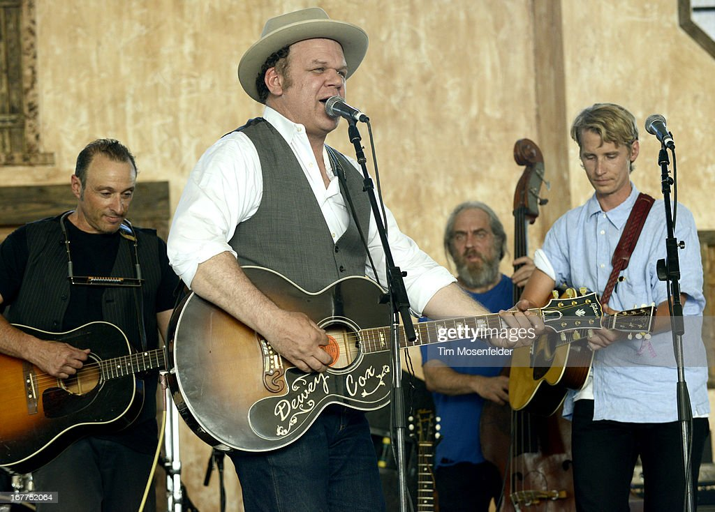 Dan Bern John C Reilly and Tom Brosseau of John Reilly and Friends perform as part of the Stagecoach Music Festival at the Empire Polo Grounds on...