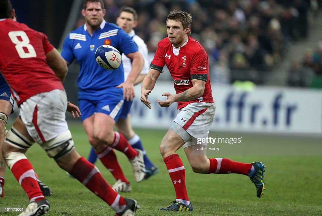 Dan Biggar of Wales in action during the 6 Nations match between France and Wales at the Stade de France on February 9,, 2013 in Paris, France.