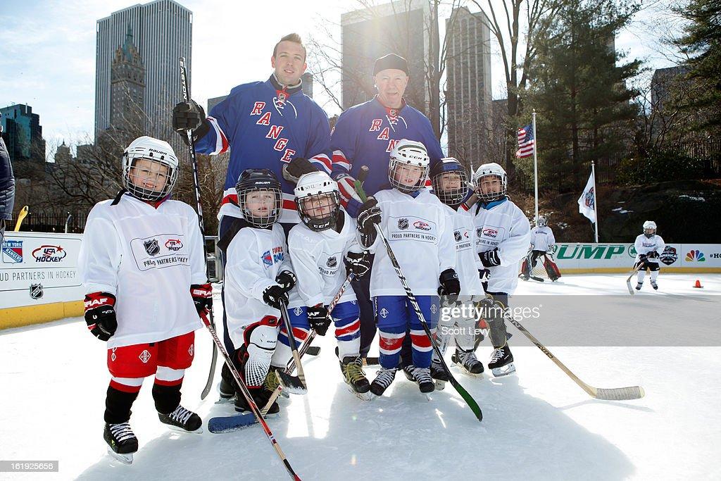 The New York Rangers Host A Hockey Day In America Event