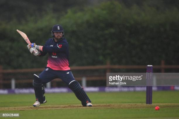 Dan Bowser of England batting during the INAS Learning Disability TriSeries Trophy Final match between England and South Africa on July 21 2017 in...